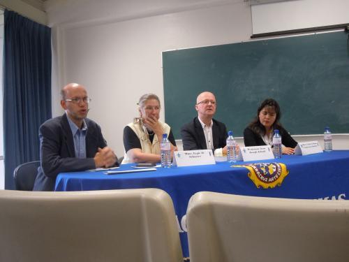 Jean-Joseph Julaud à l'université de Veracruz, mai 2011