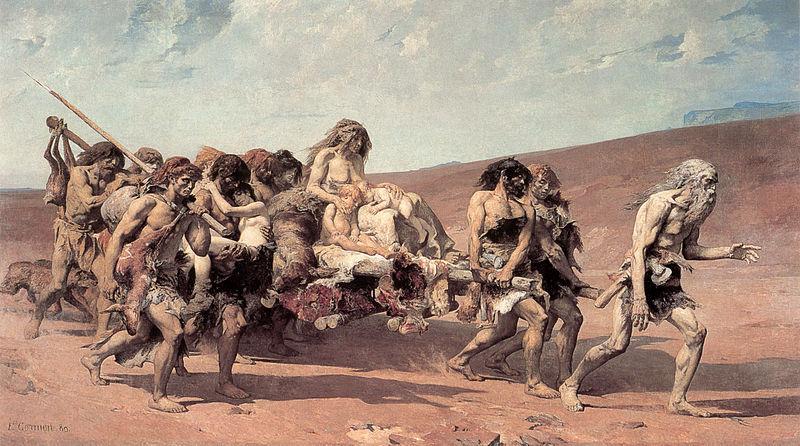 """""""Caïn fuyant avec sa famille"""" (1880) - Fernand Cormon (1845 - 1924) - Musée d'Orsay"""