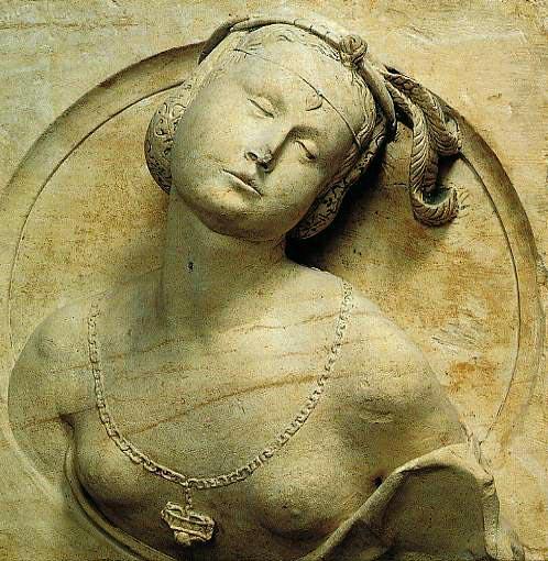 Buste de femme en médaillon, milieu du XVIe siècle