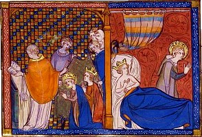 Louis IX pratiquant l'abstinence