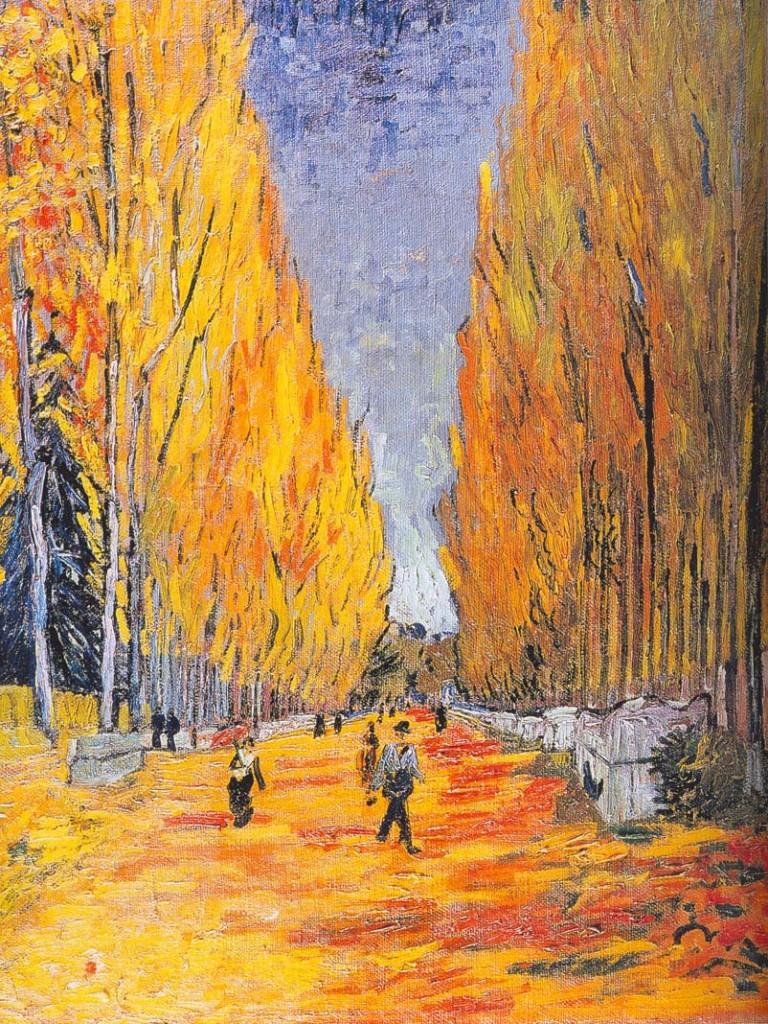 Vincent Van Gogh, les Alyscans, Arles, 1888