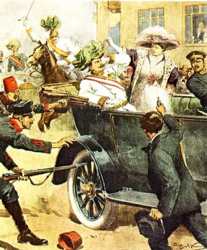 Attentat de Sarajevo, le 28 juin 1914.