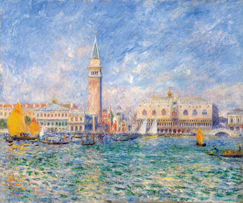 Pierre Auguste Renoir Vue de Venise (Le Palais des Doges), 1881.