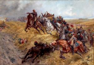 Lucien-Pierre Sergent (1849 - 1904) - La Charge du maréchal Ney à la bataille de Waterloo