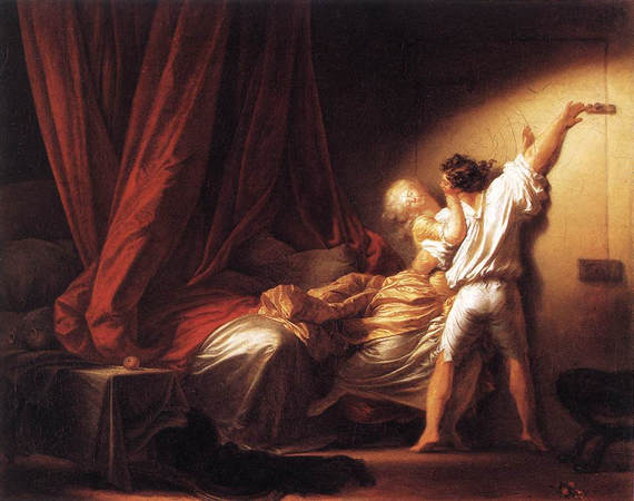 Le verrou. Jean-Honoré Fragonard, 1732 - 1806.