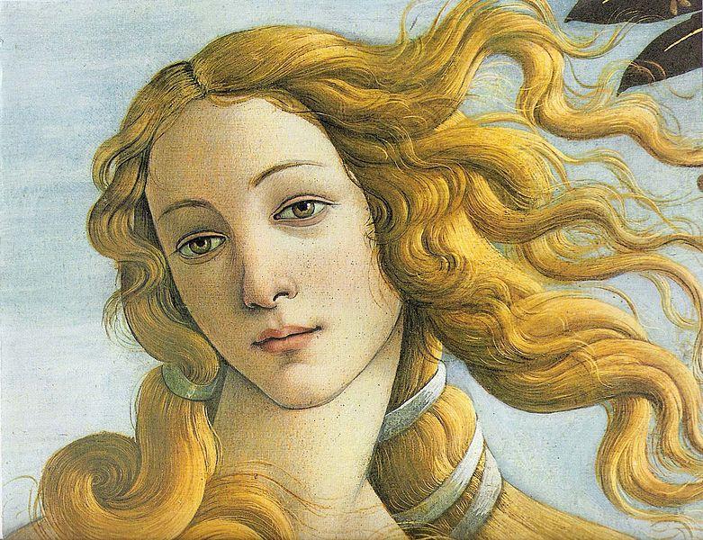 La naissance de Vénus (portrait de Vénus) de Sandro Botticelli, artiste du Quattrocento (XVe siècle italien).