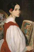 Léopoldine Hugo (1824 - 1843)  le jour de sa première communion en 1836,  par Auguste de Châtillon (1808 - 1881).