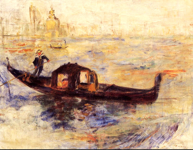 Gondole à Venise, Pierre-Auguste Renoir (1841 - 1919)