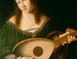 Femme jouant du luth Bartolomeo Veneto (1470 - 1531)