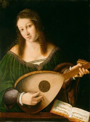 Femme jouant du luth Bartolomeo Veneto