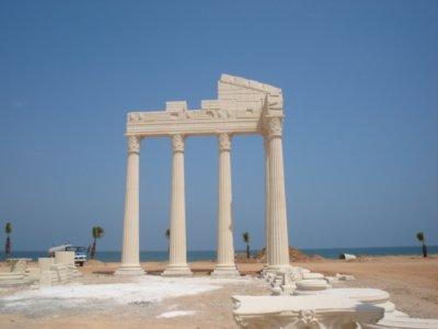 Soles dans l'ancienne province de Cilicie aujourd'hui Mezitli, province d'Adana en Turquie. Vue de ruines à Mezitli.