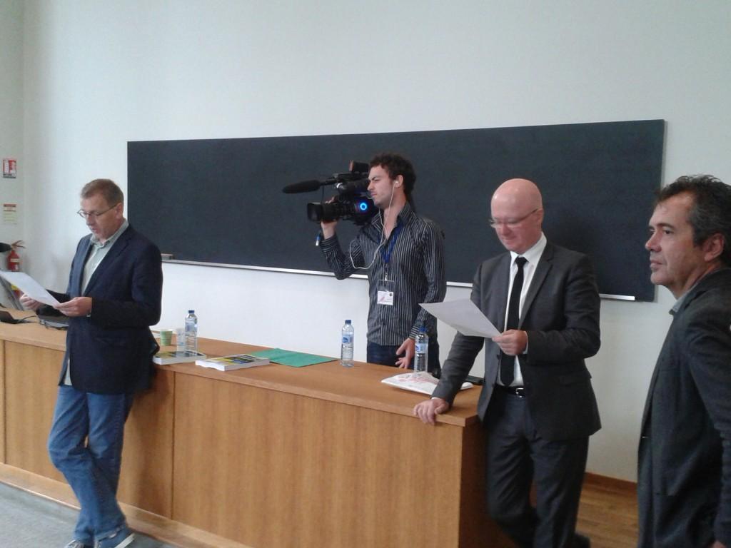 """De droite à gauche, Vincent Barbare, PDG d'Edi8, Jean-Joseph Julaud, PDG de la dictée, et Grégoire Delacourt, PDG de """"La Liste de mes envies""""..."""