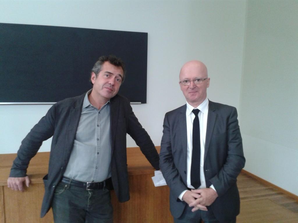 De gauche à droite, Vincent Barbare, PDG d'Edi8, et Jean-Joseph Julaud, PDG de l'Histoire de France pour les Nuls...