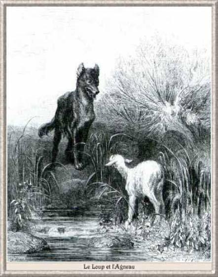 Le Loup et l'Agneau, illustration de Gustave Doré (1832 - 1883)