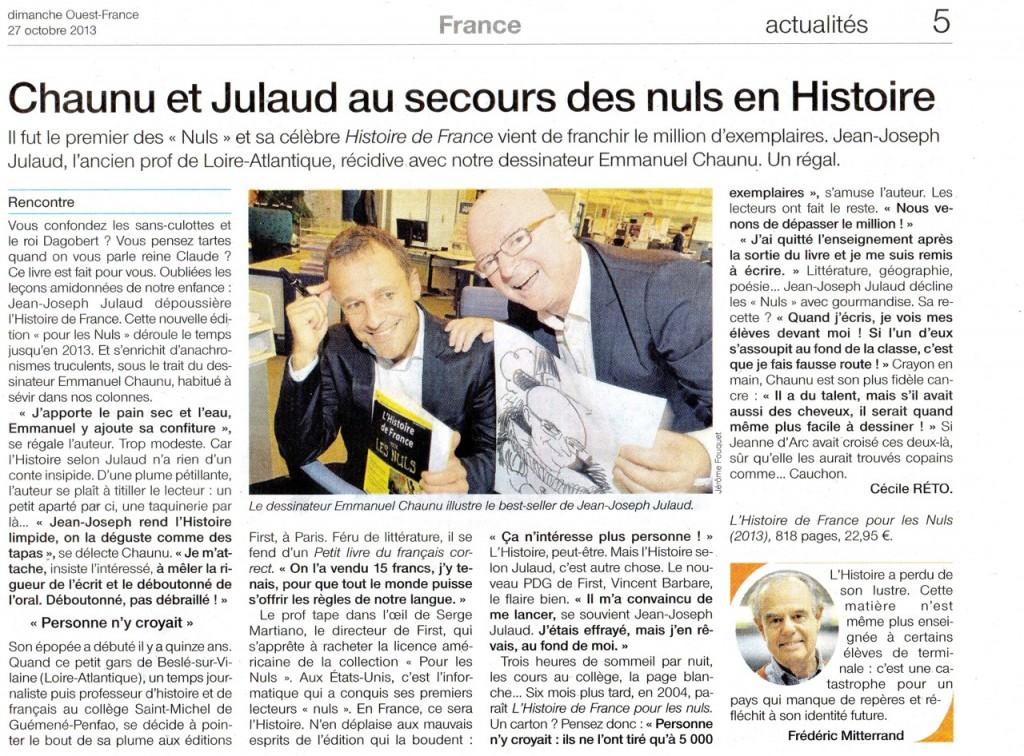 Dimanche Ouest-France, samedi 27 octobre 2013