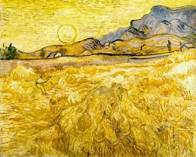 Vincent van Gogh - Champ de blé, 1889