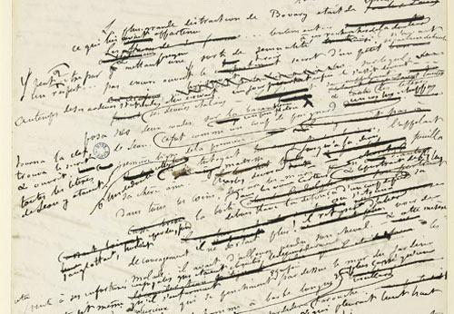 Manuscrit de Madame Bovary
