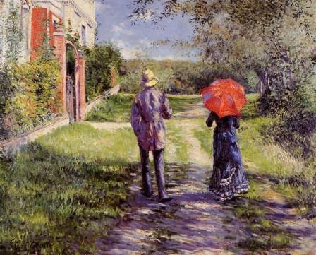Le chemin ensoleillé - Gustave Caillebotte (1848 - 1894)
