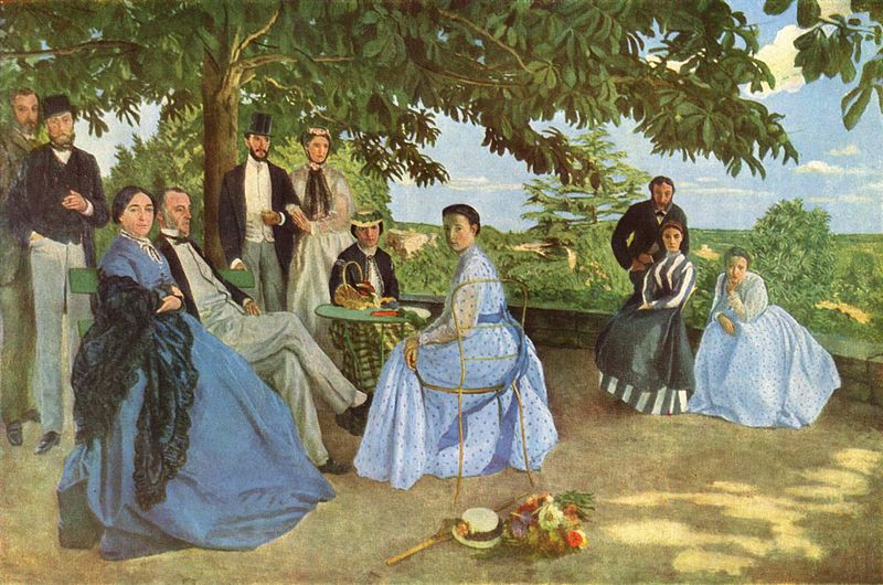Réunion de famille. Frédéric Bazille, né à Montpellier le 6 décembre 1841, mort au combat le 28 novembre 1870 à Beaune-la-Rolande.