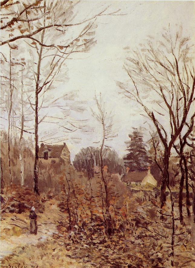 """""""Automne à Louveciennes"""". Alfred Sisley (1839 - 1899)"""