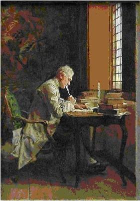 """""""Un poète"""" (1859)  Jean-Louis Ernest Meissonnier (1815 - 1891)"""