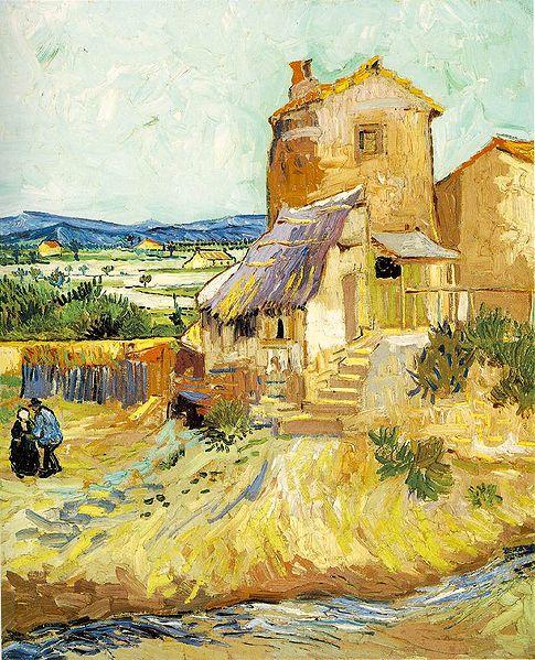"""""""Le vieux moulin"""". Vincent Van Gogh (1853 - 1890)."""