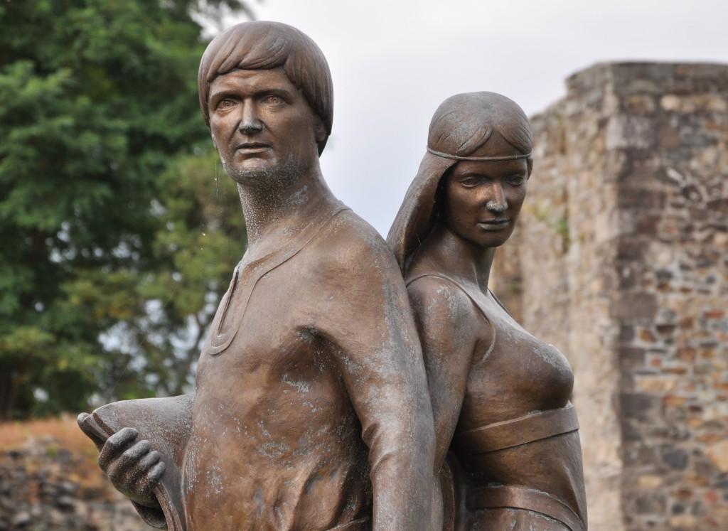 Abélard (1079 - 1142) et Héloïse (1100 - 1164), Le Pallet en Loire-Atlantique (lieu de naissance d'Abélard).