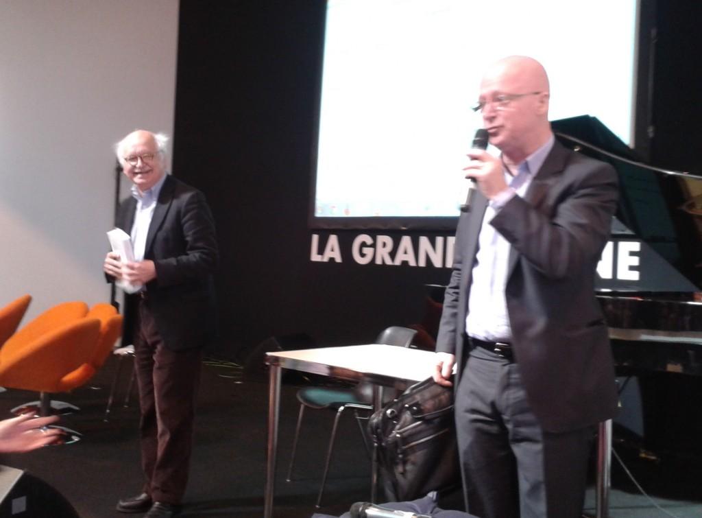 La visite surprise et amicale d'Erik Orsenna de l'Académie française, à la fin de la Dictée pour les Nuls.