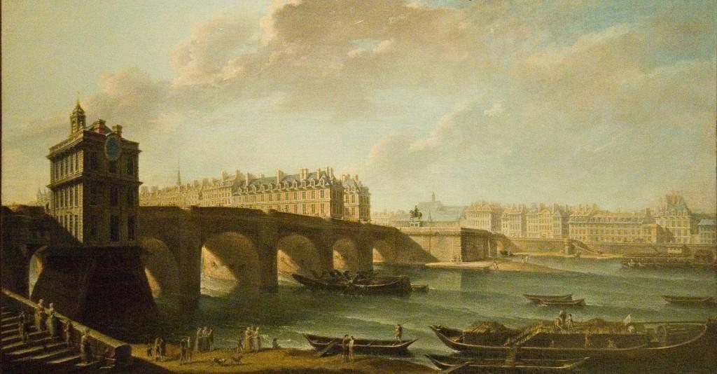 Le Pont Neuf par Jean-Baptiste Nicolas Raguenet, né le 23 juillet 1715 à Paris, mort le 17 avril 1793.