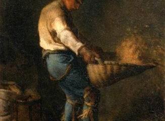 Un vanneur - Jean-François Millet (1814 - 1875).